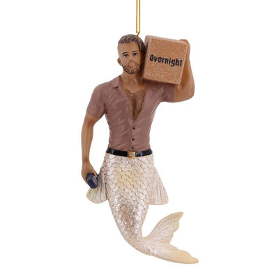 December Diamonds Big Package Merman Ornament
