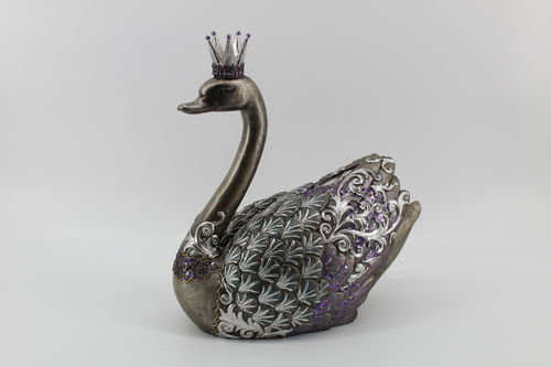 December Diamonds Swan with Crown