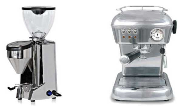 espresso machine and grinder