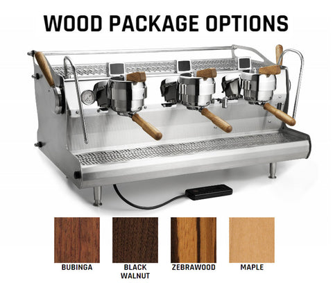 wood finish espresso machine