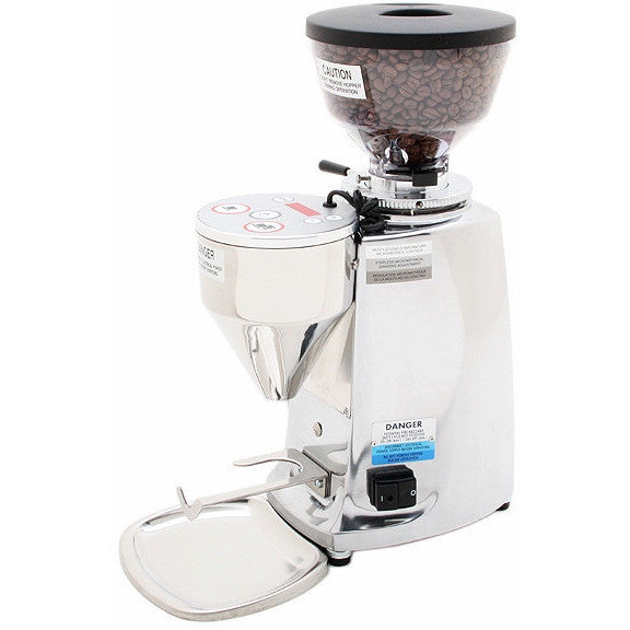 Mazzer Mini Electronic Doserless Espresso Grinder Type A - Polished Aluminum - My Espresso Shop