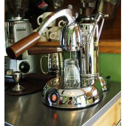La Pavoni Stradivari Manual Espresso Machine - Wood & Chrome - PSW-16 - My Espresso Shop