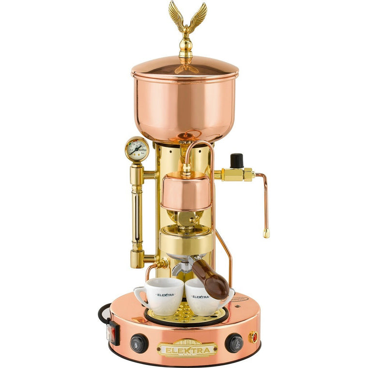 Elektra ART.SX MicroCasa SemiAutomatica Espresso Machine -Copper and Brass - My Espresso Shop