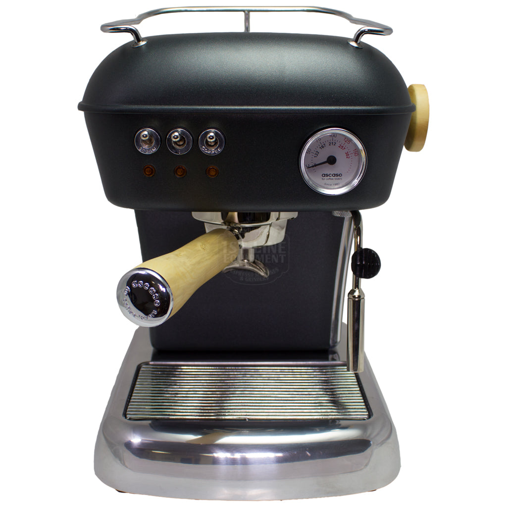 Ascaso Dream UP V3 Espresso Machine - Anthracite - Wood Handle and Steam Knob