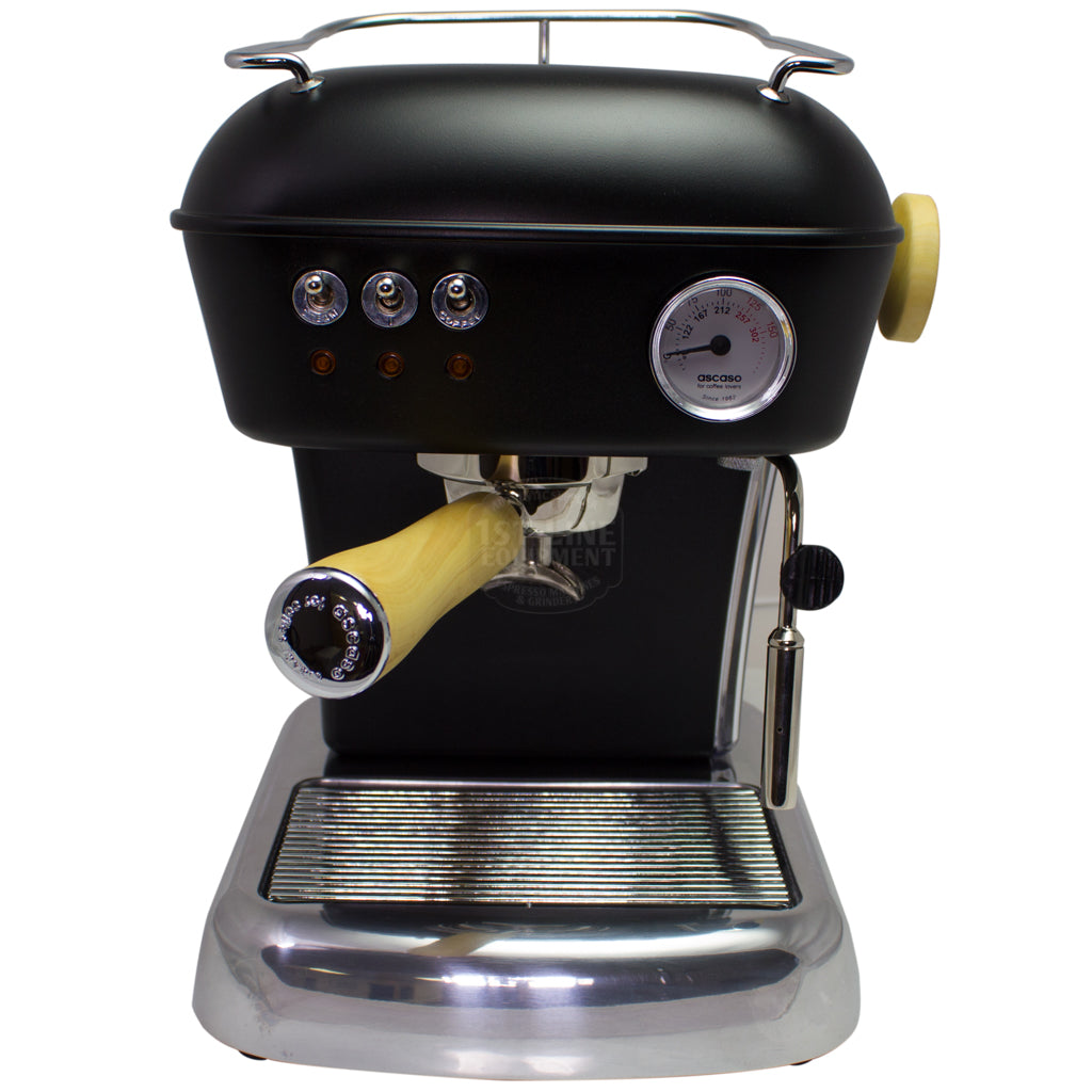 Ascaso Dream UP V3 Espresso Machine- Black - Wood Handle and Steam Knob - My Espresso Shop