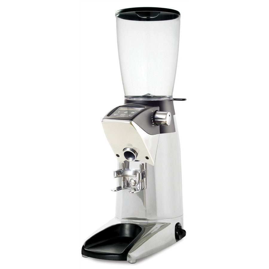 Compak F10 Fresh Grinder with Large Hopper - Polished Aluminum - My Espresso Shop