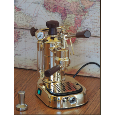 La Pavoni Professional Manual Espresso Machine - Gold Plated Brass - PPG-16 - My Espresso Shop