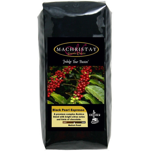 Machristay Black Pearl Espresso Whole Bean - 1 pound - My Espresso Shop