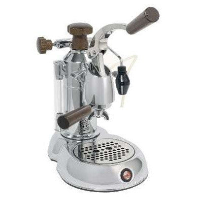 La Pavoni Stradivari Manual Espresso Machine - Wood & Chrome - ESW-8 - My Espresso Shop