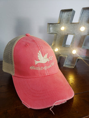 Faith Defines Us Dove Trucker Hat