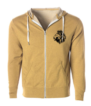 Lion of Judah Midweight French Terry Zip - FDU - Faith Defines Us