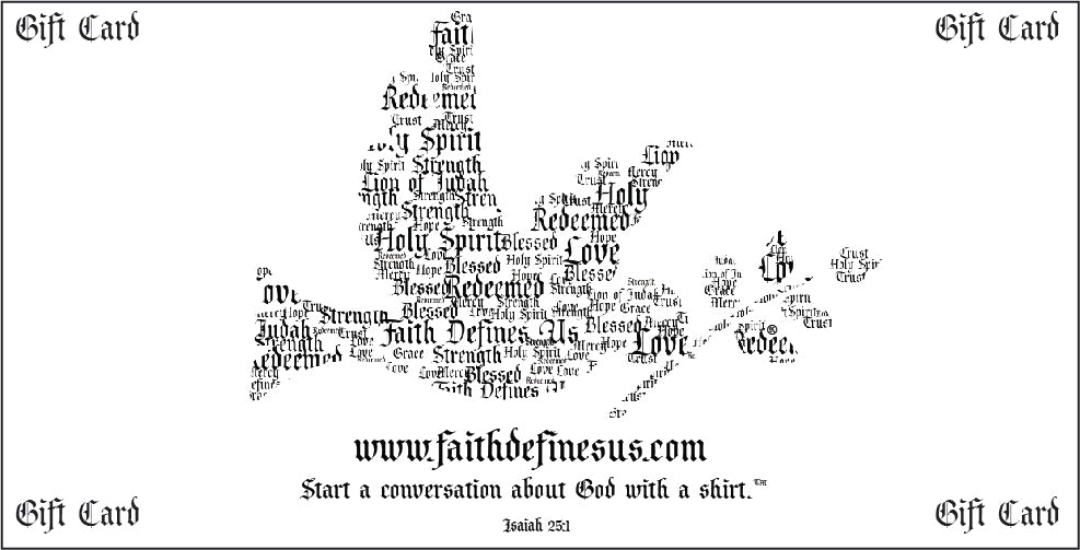 Faith Defines Us -Gift Card - FDU - Faith Defines Us
