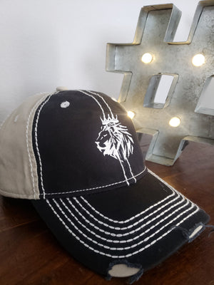 Lion of Judah Distressed Rambler Cap - FDU - Faith Defines Us