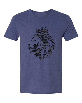 Lion of Judah- Men Vneck - FDU - Faith Defines Us