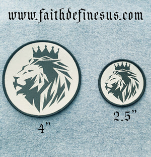 Lion of Judah - 4 inch Patch -Iron On - FDU - Faith Defines Us