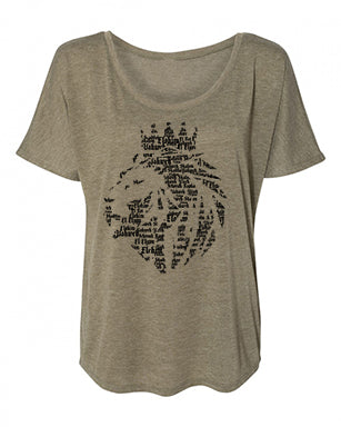 Lion of Judah - Ladies Slouchy Tee - FDU - Faith Defines Us