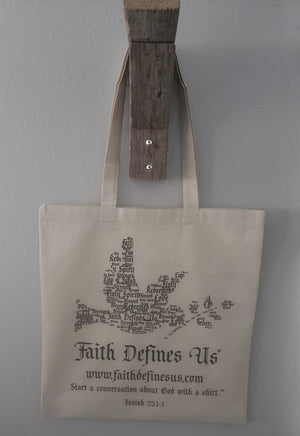 Natural Canvas Tote Bag - FDU - Faith Defines Us