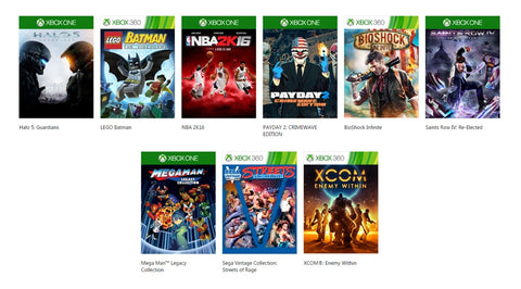 Xbox One, Xbox 360 Games Pre-owned