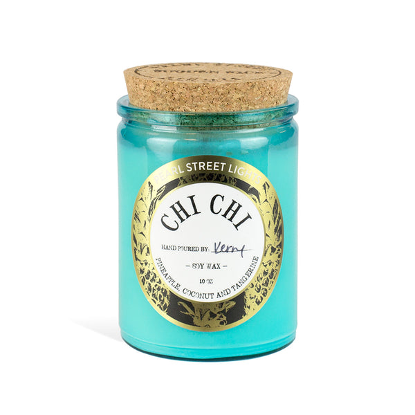 Chi Chi Candle Pineapple Coconut Tangerine Hand Poured Candle Soy Wax Candle Handmade Small Batch  Wooden Wick Candles