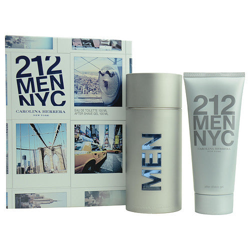 212 by Carolina Herrera EDT SPRAY 3.4 OZ & AFTERSHAVE GEL 3.4 OZ