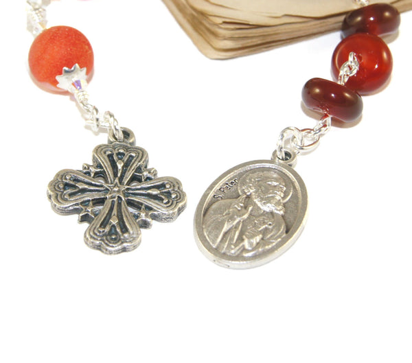 St Peter Christian Prayer Beads, Anglican Chaplet Rosary