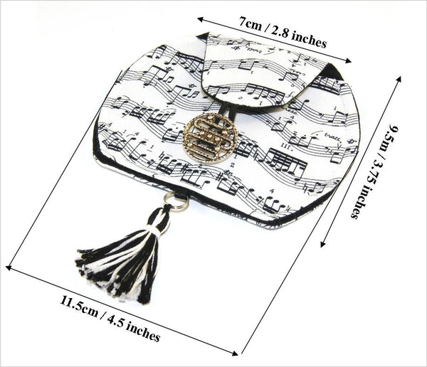 Music Lover's Pouch, Small Fabric Pouch