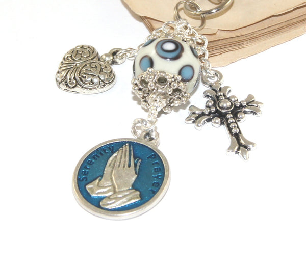 Serenity Prayer Bag Clip, Travel Charm