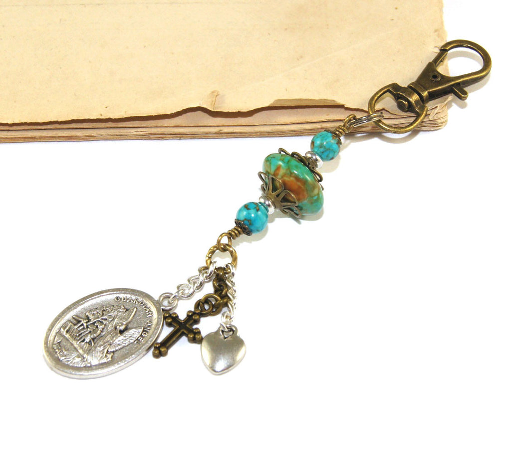St Michael Guardian Angel Keychain