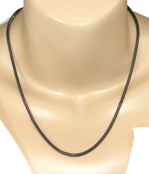 50cm gunmetal snake chain necklace