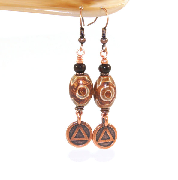 12 step recovery gift, unity earrings