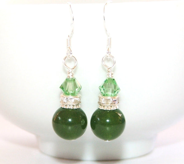 Greenstone earrings, nephrite jade made in New Zealand