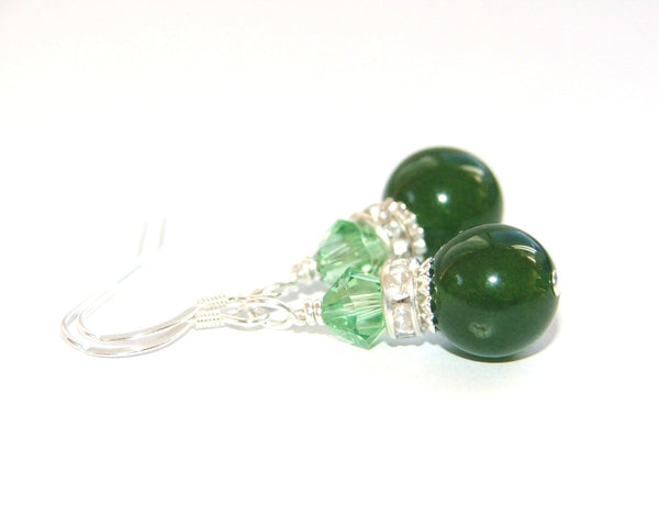 Made in New Zealand Nephrite Jade earrings