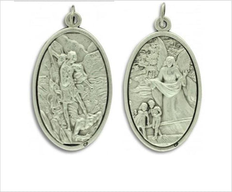 Saint Michael Guardian Angel medal