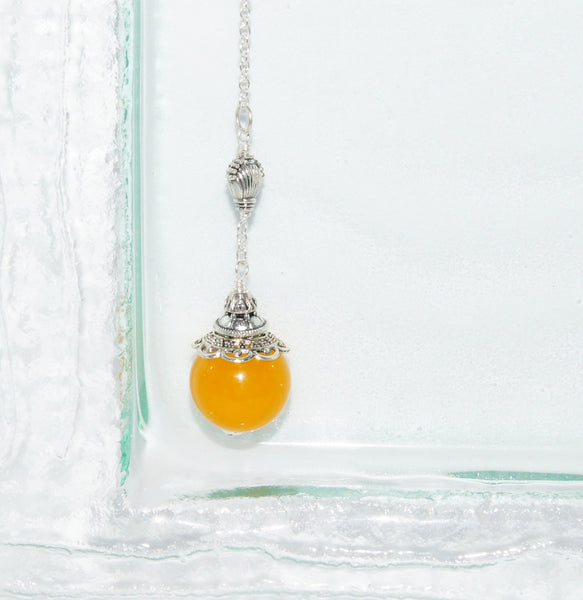 Window Hanging Charm, Gold jade and silver