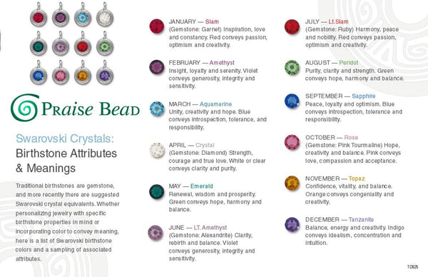 Birthstone colors Swarovski Crystals