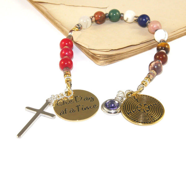 Prayer beads for 12 steps of alcoholics anonymous