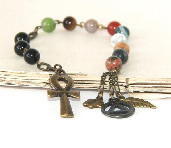 Gemstone prayer and meditation beads
