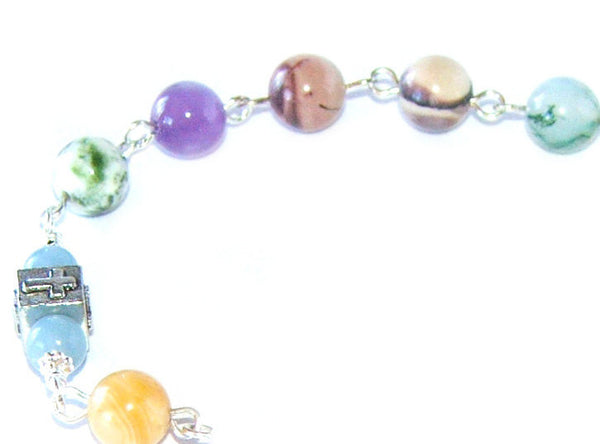 Gemstone beaded recovery aid, 11th step beads