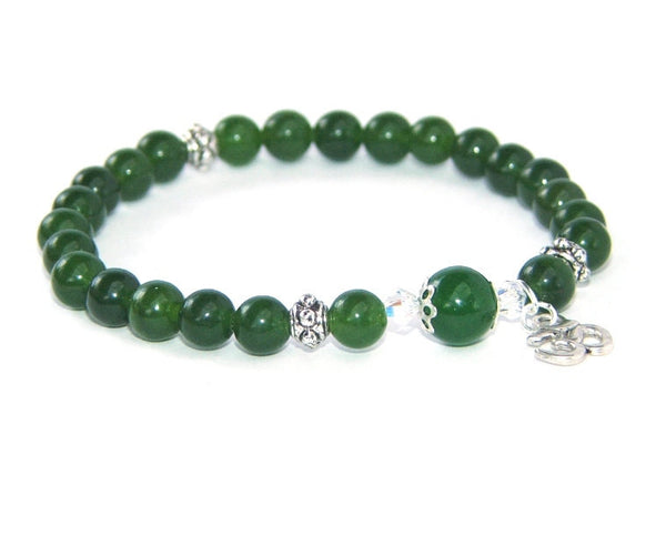 New Zealand made greenstone bracelet