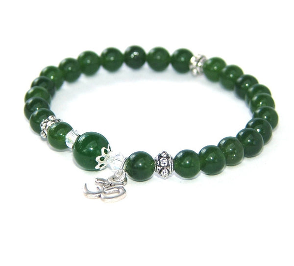 Greenstone Om Bracelet, New Zealand Made