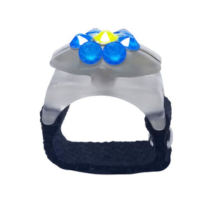 "Thread Cutterz Glow Ring - Electric Flower Pattern Crystals ""Limited Edition"""