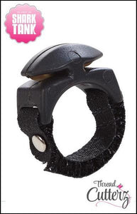 Black Thread Cutterz Ring - The adjustable ring that cuts thread, yarn and embroidery floss
