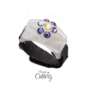 Thread Cutterz Glow Ring - Purple Swarovski Flower Pattern - Limited Edition