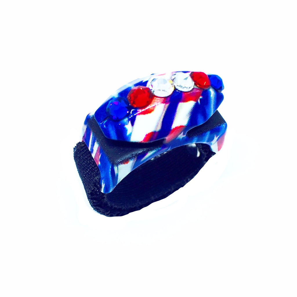 Limited Edition Red, White & Blue Swarovski Bedazzled Thread Cutterz Ring