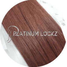 "Load image into Gallery viewer, Hair Extensions | Remy European 20"" Tape #33 Auburn - Platinum Lockz 