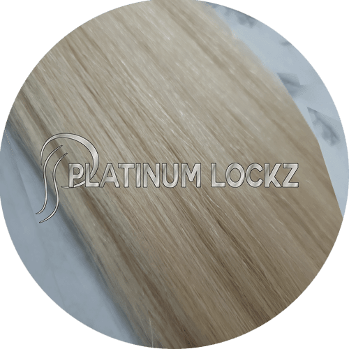 "Hair Extensions | Remy European 20"" Tape #60 Platinum Blonde - Platinum Lockz 