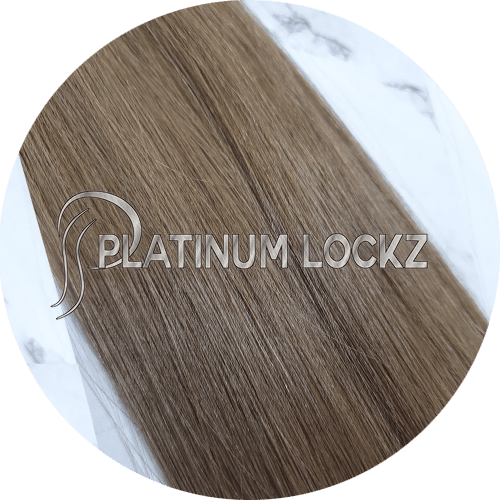 "Hair Extensions | Remy European 20"" Tape #8 Light Brown - Platinum Lockz 