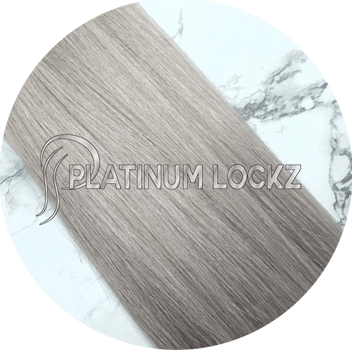 "Hair Extensions | Remy European 20"" Tape #Rogue Grey - Platinum Lockz 