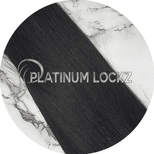 "Hair Extensions | Remy Russian 22"" Tape #1 Black Night - Platinum Lockz 