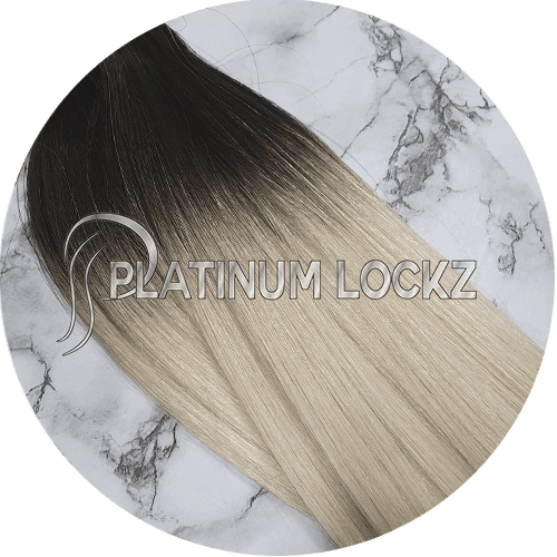 "Hair Extensions | Remy Russian 22"" Tape #1B/60A - Platinum Lockz 